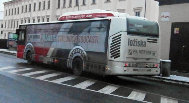 PK bus(3C9 9128 6C86028) Odjezd od autobusového nádraží (30.12.2014)